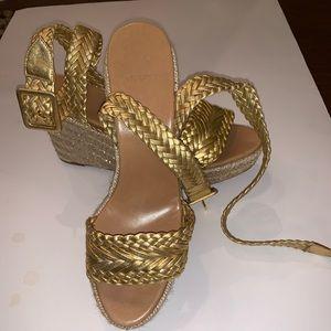 Hermès Braided Wedge Sandle